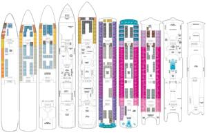 Deckplan Norwegian Spirit